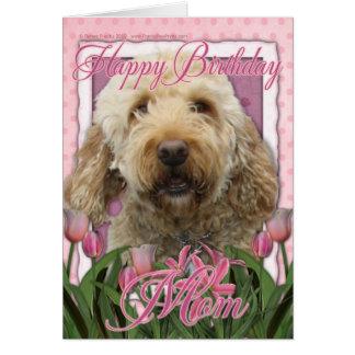 Alles- Gute zum Geburtstagmamma - Goldendoodle Grußkarte