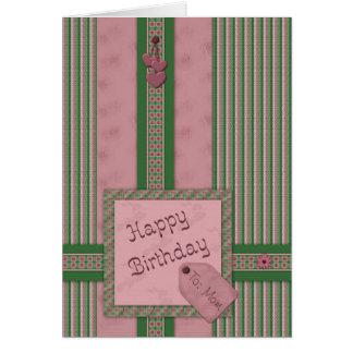 Alles- Gute zum Geburtstagmamma! Grußkarte
