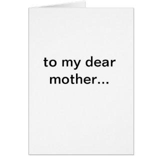 alles Gute zum Geburtstagmamma! Grußkarte