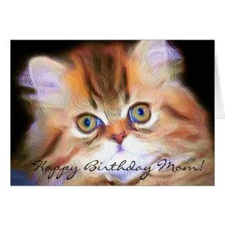 Alles- Gute zum Geburtstagmamma-Kätzchengrußkarte