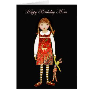 Alles- Gute zum Geburtstagmamma, kleines Mädchen Grußkarte