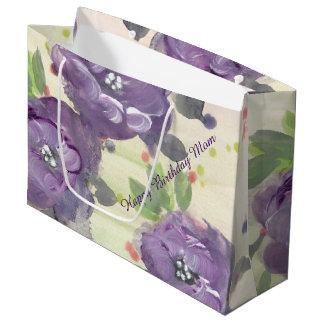 Alles- Gute zum Geburtstagmamma - lila Große Geschenktüte