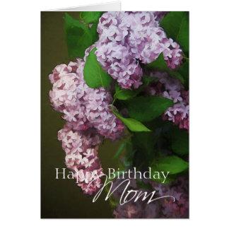 Alles- Gute zum Geburtstagmamma-lila lila Grußkarte