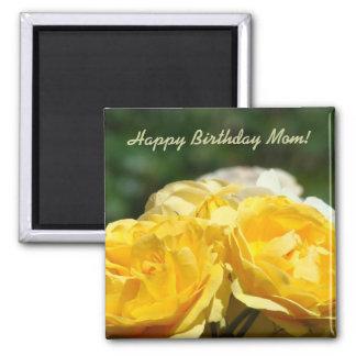 Alles- Gute zum Geburtstagmamma! Magnet gelber Ros Magnets