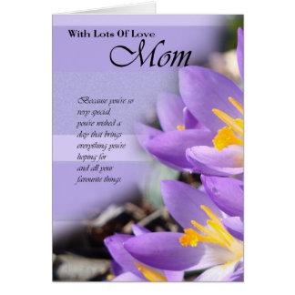 Alles- Gute zum Geburtstagmamma, Mammakarte mit Grußkarte