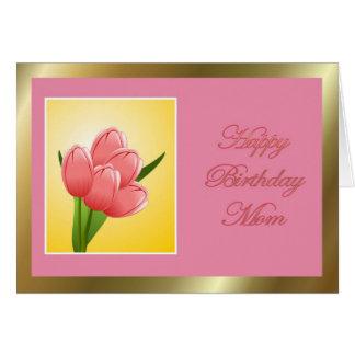 Alles- Gute zum Geburtstagmamma mit Tulpe Grußkarten