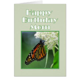 Alles- Gute zum Geburtstagmamma-Monarchfalter Grußkarte