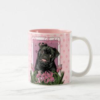 Alles- Gute zum Geburtstagmamma - Mops - Ruffy Zweifarbige Tasse