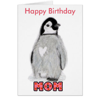 Alles- Gute zum Geburtstagmamma-Pinguin Karte