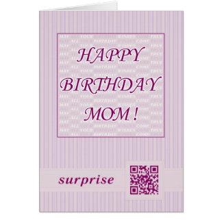 Alles- Gute zum Geburtstagmamma! QR Grußkarte
