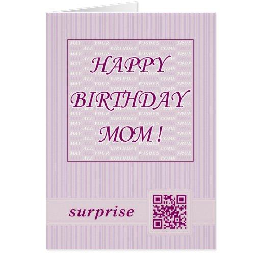 Alles- Gute zum Geburtstagmamma! QR Karte