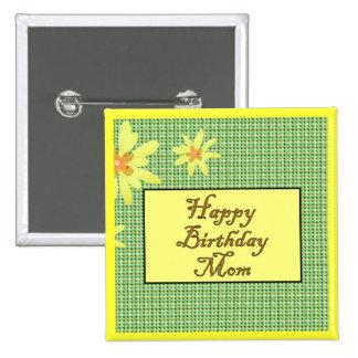 Alles- Gute zum Geburtstagmamma Quadratischer Button 5,1 Cm