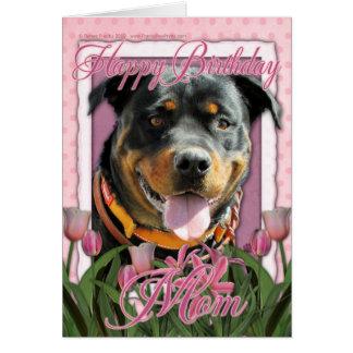 Alles- Gute zum Geburtstagmamma - Rottweiler - Grußkarte