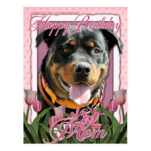 Alles- Gute zum Geburtstagmamma - Rottweiler - Sam Postkarten
