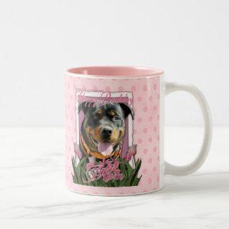 Alles- Gute zum Geburtstagmamma - Rottweiler - Zweifarbige Tasse