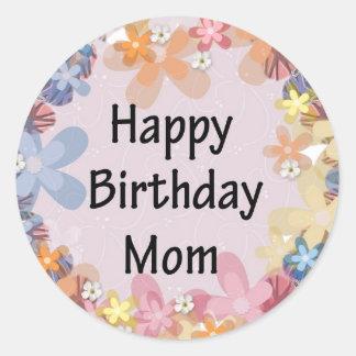 Alles- Gute zum Geburtstagmamma Runder Aufkleber