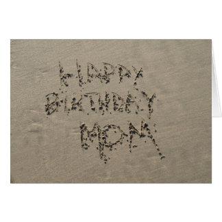 Alles- Gute zum Geburtstagmamma Sandwriting Grußkarte