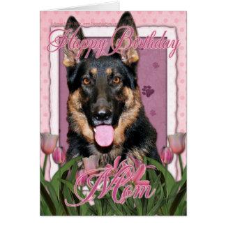 Alles- Gute zum Geburtstagmamma - Schäferhund - Grußkarte