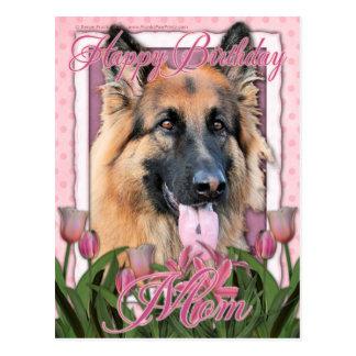 Alles- Gute zum Geburtstagmamma - Schäferhund - Postkarten