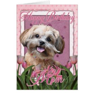 Alles- Gute zum Geburtstagmamma - ShihPoo - Maggie Grußkarte