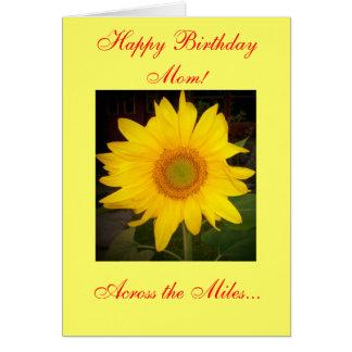 Alles- Gute zum Geburtstagmamma! Über der Meilen-K Grußkarte