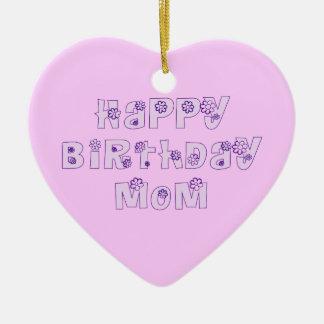 Alles- Gute zum Geburtstagmamma-Verzierungs-Rosa Ornament