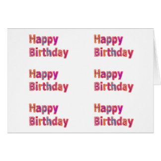 Alles- Gute zum Geburtstagmatrix: ART101 deckte Karte