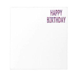 Alles- Gute zum Geburtstagmitteilung Notizblock