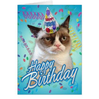 Alles- Gute zum Geburtstagmürrische Katze Karte