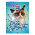 Alles- Gute zum Geburtstagmürrische Katze Karten