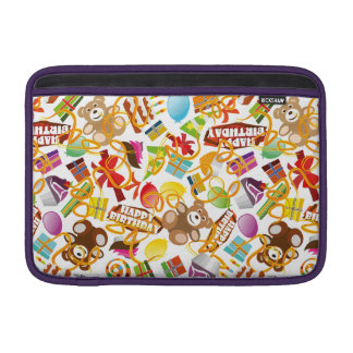 Alles- Gute zum Geburtstagmuster-Illustration MacBook Sleeve