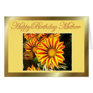 Alles- Gute zum Geburtstagmutter mit Blumen alles Grußkarte