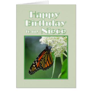 Alles- Gute zum Geburtstagnichten-Monarchfalter Karte