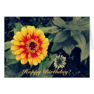 Alles- Gute zum Geburtstagorange Grußkarte