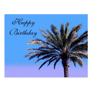 Alles Gute zum GeburtstagPalme Postkarte