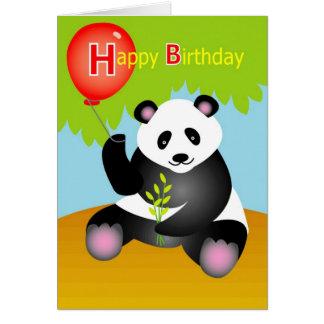 Alles- Gute zum Geburtstagpanda Karte