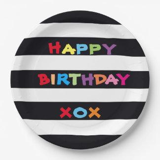 Alles- Gute zum Geburtstagpapier-Teller 9 Zoll Pappteller