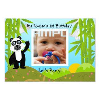 Alles- Gute zum GeburtstagParty mit Pandabären 8,9 X 12,7 Cm Einladungskarte