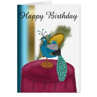 Alles- Gute zum Geburtstagpfau themenorientiert Karte