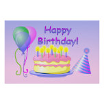Alles- Gute zum Geburtstagplakat