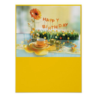 Alles- Gute zum Geburtstagplakat Poster