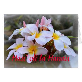 Alles Gute zum GeburtstagPlumeria, hawaiisch Karte