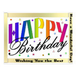 Alles- Gute zum Geburtstagpostkarte