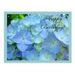 Alles Gute zum Geburtstagpostkarten blaue BlumenBl Postkarte