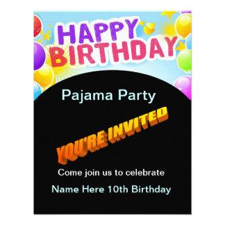 Alles- Gute zum Geburtstagpyjama-Party Einladung