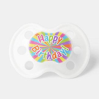 Alles- Gute zum Geburtstagregenbogen-Text Schnuller
