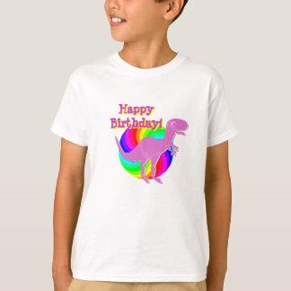 Alles- Gute zum Geburtstagrosa-Dinosaurier T-Rex T-Shirt