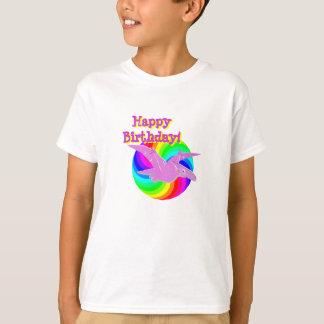 Alles- Gute zum Geburtstagrosa-Dinosaurier T-Shirt