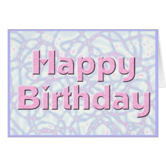 Alles- Gute zum Geburtstagrosa u. Blau Karte