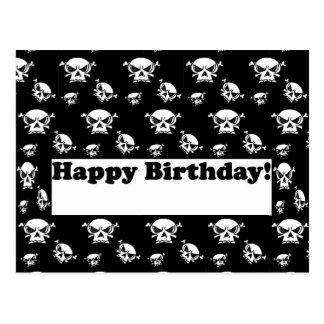 Alles- Gute zum Geburtstagschädel-Schablone Postkarte